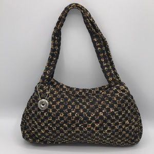 The Sak Leopard Patchwork Shoulder Bag